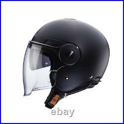 Caberg Uptown Matt Black Open Face Motorcycle Helmet With Visor