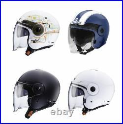 Caberg Uptown Motorcycle Scooter Open Face Commuter Crash Jet Helmet