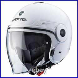 Caberg Uptown White Open Face Motorcycle Motorbike Helmet
