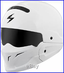 Covert Open-Face Solid Motorcycle Helmet Gloss White Large Scorpion COV-0205