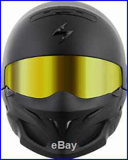 Covert Open-Face Solid Motorcycle Helmet Matte Black 3X-Large Scorpion COV-0108