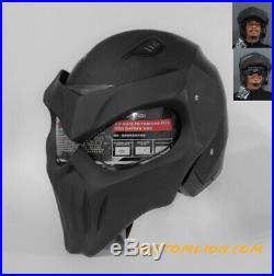 Custom helmet motorcycle Iron Skull open face