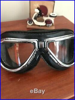 DAVIDA CLASSIC open face motorcycle helmet standard gloss black MEDIUM