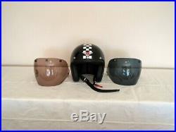 DAVIDA Ninety 2 open face motorbike Helmet Medium 2 Visors. Excellent condition