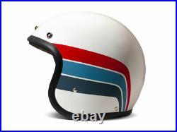 DMD Vintage Artemis Gr. L weiß rot blau Jethelm Open Face Helm Motorradhelm