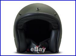 DMD Vintage Green grün matt Gr. M Jethelm Open Face Helm Motorradhelm