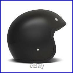 DMD Vintage Low Profile Open Face Motorcycle Helmet Black