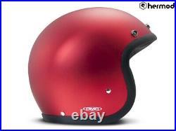 DMD Vintage Low Profile Open Face Motorcycle Helmet Metallic Red