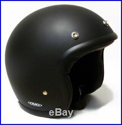 DMD Vintage Solid Matt Black Mattschwarz Gr. M Jethelm Open Face Helm