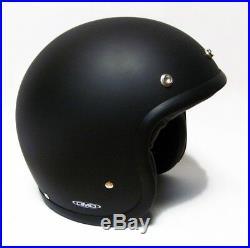 DMD Vintage Solid Matt Black Mattschwarz Uni Gr. XL Jethelm Open Face Helm