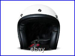 DMD Vintage Solid White weiß Gr. M Jethelm Open Face Helm Motorradhelm
