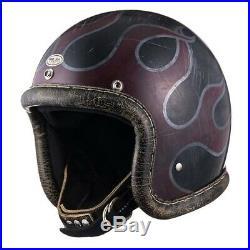 DOT Motorcycle Open Face Helmet BLACK SML 3/4 Vintage Rockers VMX Magnum Bell