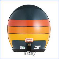 DOT Motorcycle Open Face Helmet BLUE SML 3/4 70s Super Magnum Bell