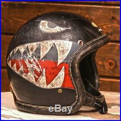 DOT Motorcycle Open Face Helmet TIGER SML 3/4 Vintage Rockers VMX Magnum