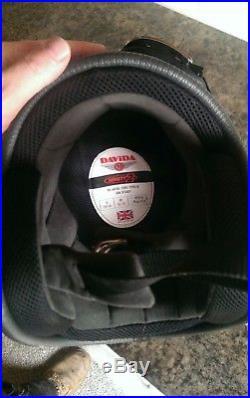 Davida92 Helmet Open Face Suit Triumph Rider Retro Union Jack Size58 M +Goggles