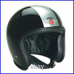 Davida 92 TT Open Face Motorcycle Helmet Black Silver XS Extra Small RRP £299