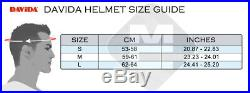 Davida Classic Open Face Novelty Motorcycle Helmet Complex Union Jack Mono