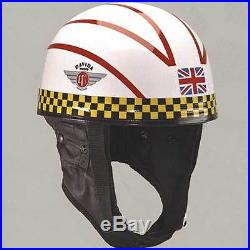 Davida Classic Racing Series John Blanchard Open Face Motorcycle Helmet All Size