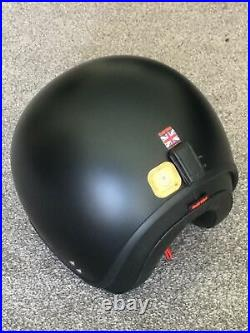 Davida Jet Matt Black Mens Open Face Motorcycle Motorbike Helmet X Medium 58