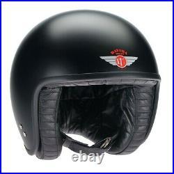 Davida Jet Matt Black Mens Open Face Motorcycle Motorbike Helmet X Small XS