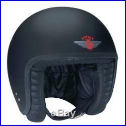 Davida Jet Matt Black Open Face Helmet Large 80105l