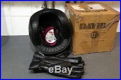 Davida Jet Matt Black Open Face Motorcycle Helmet Large & Cruiser Leather Gloves