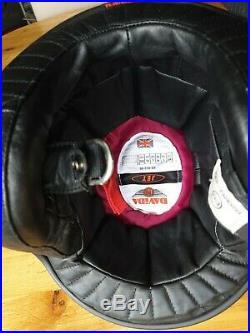 Davida Jet open face helmet silver/black Norton colours gloss size Medium 58