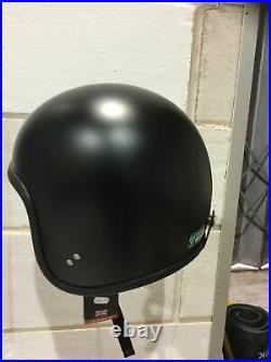 Davida Moto 92 Matt Black Open Face Helmet NEW Size S