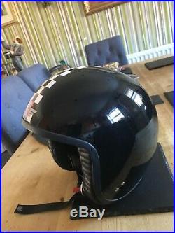 Davida Moto Jet Scooter Helmet Open Face Black XXL Large