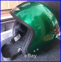 Davida Moto Jet Scooter Helmet Open Face Candy Green Large