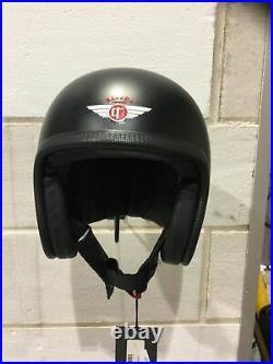Davida Moto V3 Matt Black Open Face Helmet NEW Size S