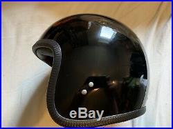 Davida Ninety Two 92 Open Face Motorcycle Helmet XL Gloss Black