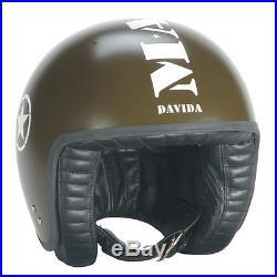 Davida Open Face Jet Helmet Green Mashed XL Best Quality