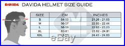 Davida Speedster Cream / Brown Leather Open Face Motorcycle Helmet Complex