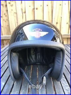 Davida Speedster Low Profile Open Face Helmet Large Harley Triumph Cafe Racer