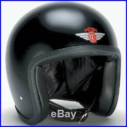 Davida Speedster Matt Black Open Face Motorcycle Helmet Standard All Sizes