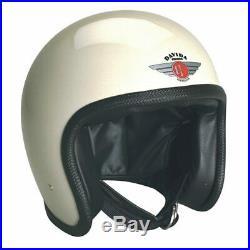 Davida Speedster V3 Open Face Motorcycle Helmet Gloss Cream M RRP £299.00
