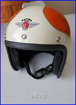 Davida Speedster open face motorcycle helmet. Size S