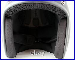 Daytona Low Profile Helmet White Custom Open Face Bobber Chopper Biker