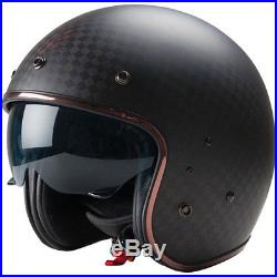 Dexter Motorbike Motorcycle Open Face Cruiser Bobber Plucker Big Square Carbon