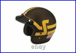 Ducati Bell Scrambler jet helmet short track open faced brown yellow medium