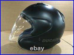 Ducati OEM by Arai Open Face Black Dark City 14 Helmet XS X-Small 981027332