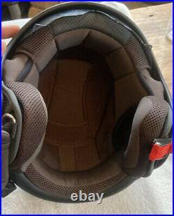 Emporio Armani Vespa 946 Open Face Scooter Matt Black Visor Crash Helmet