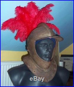 English Civil War era Close helmet open face