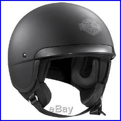 Genuine Harley Davidson Hightail B09 5/8 Open Face Motorcycle Helmet Matt Black