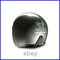 Genuine Moto Guzzi Open Face Jet Helmet MG Engine Grey