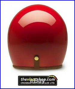 HEDON HEDONIST Open Face Motorcycle Helmet ROUGE Red Small S 55-56cm