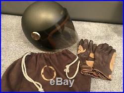 HEDON HEDONIST Open Face RETRO CLASSIC MOTORYCLE Crash Helmet in ASH GREY Sz XL