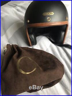 HEDON Hedonist Open Faced Motorcycle Helmet (Matt Black) Size M