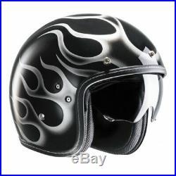 HJC FG-70S Aries Open Face Motorcycle Helmet XL Black White Motorbike Bike Urban